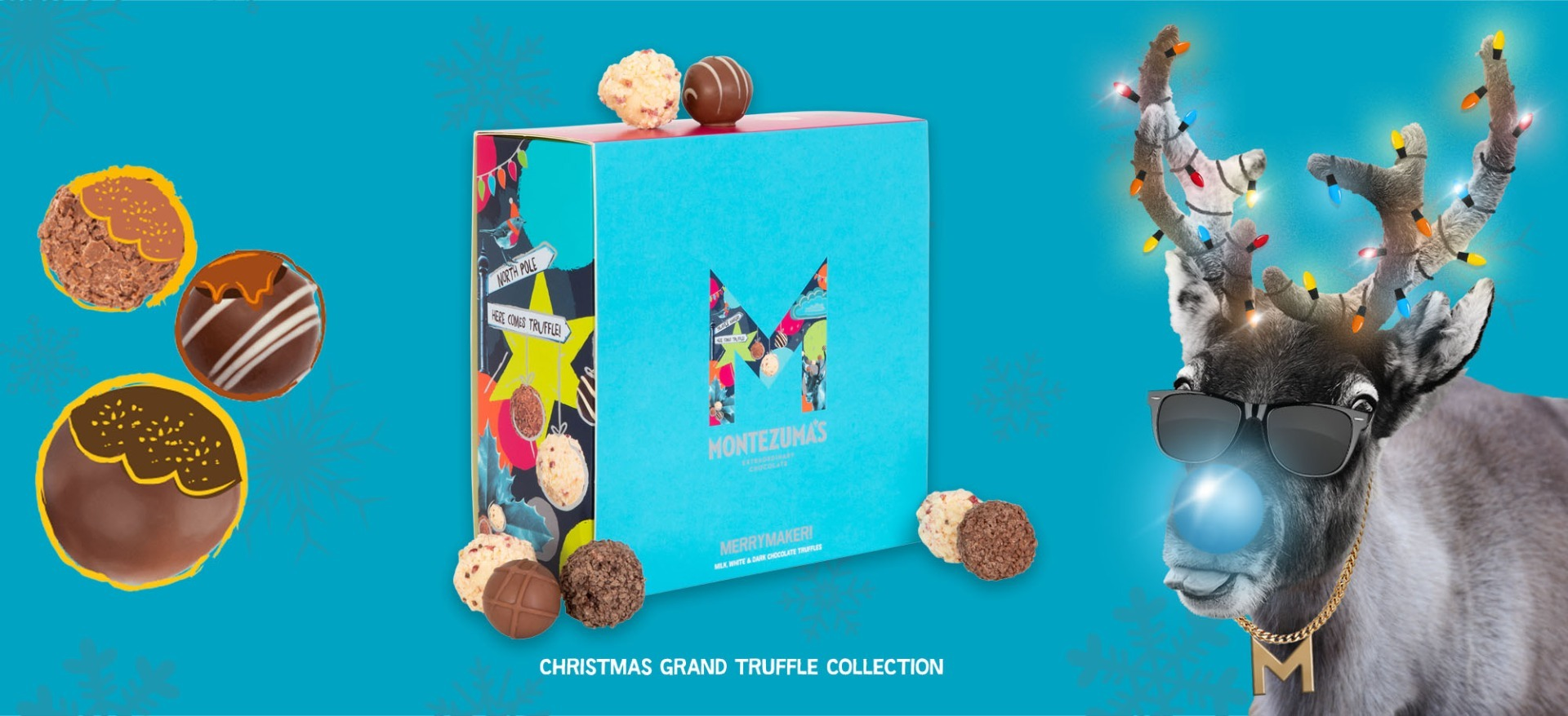 Christmas Truffles with a Reindeer