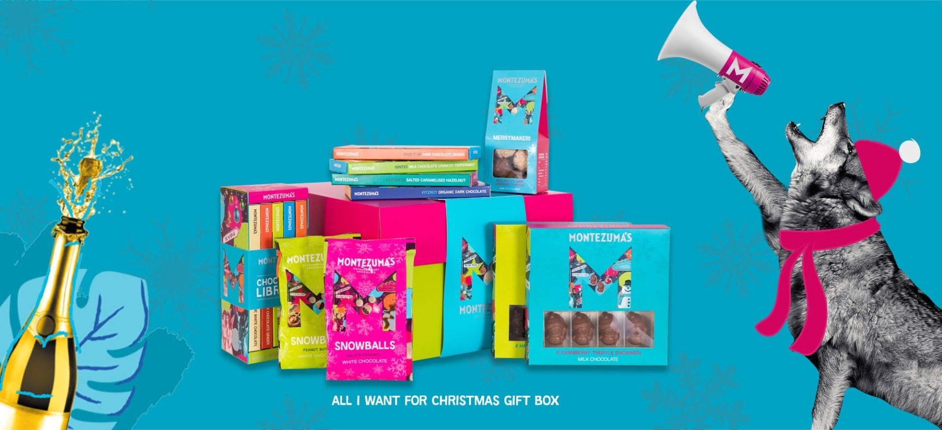 christmas chocolates in a gift box