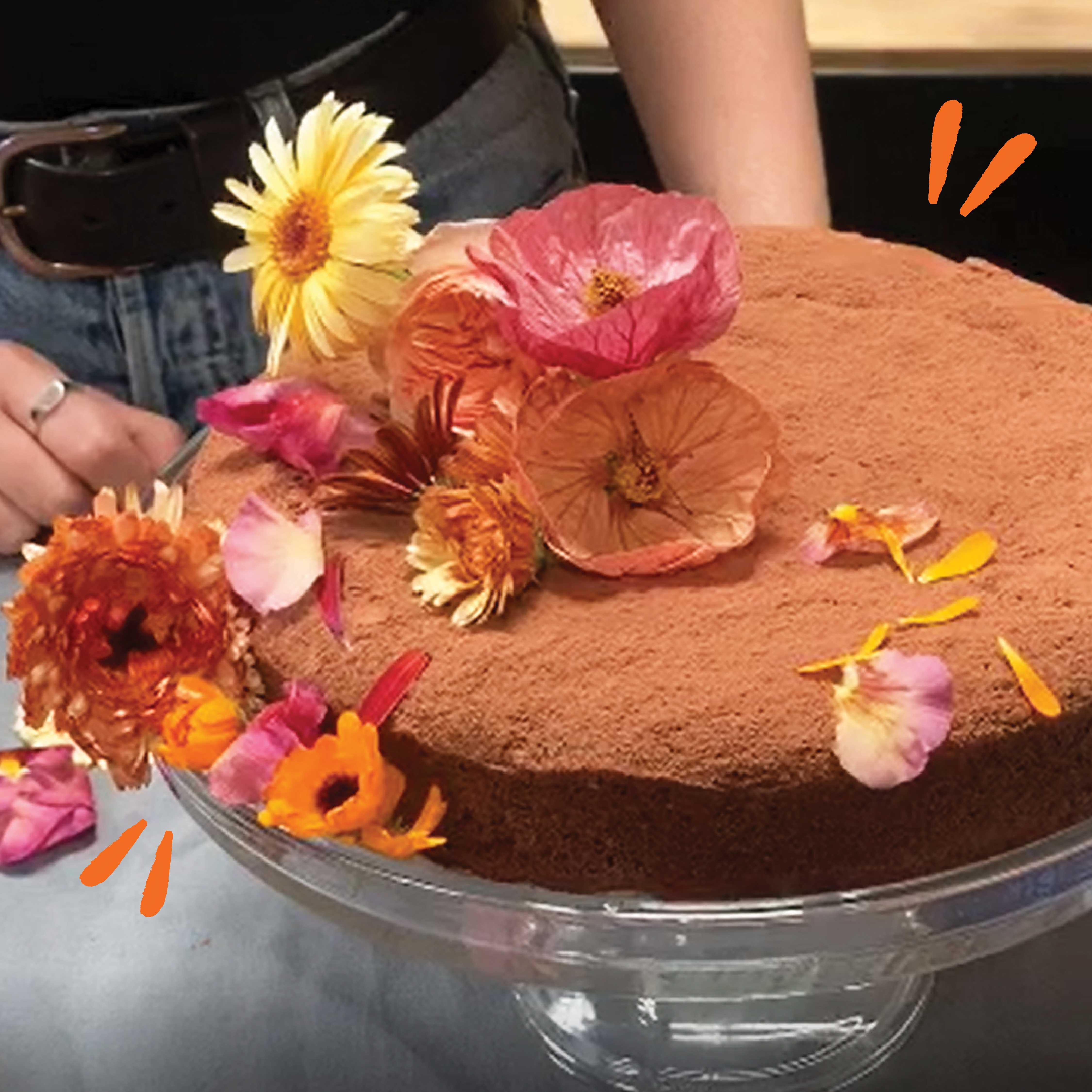 Dark chocolate & hazelnut flourless cake recipe