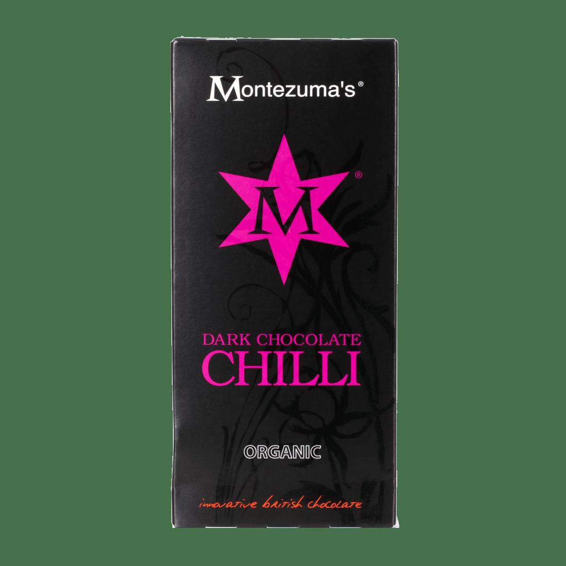 Food Retro Organic Dark Chocolate with Chilli Bars