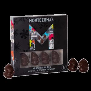 Black snowmen box with absolute black 100% chocolate snowmen