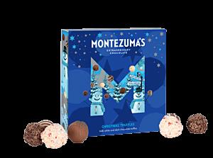 XL christmas truffle box - blue box with 50 chocolate truffle inside