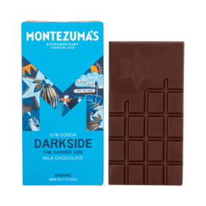 51% darkside milk chocolate in blue box