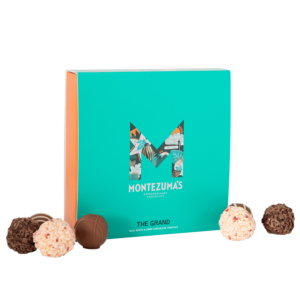 best selling mixed chocolate truffles in a green box