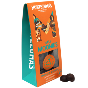 mandarin &orange solid dark chocolate in orange and green box