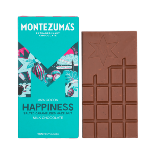 Happiness milk chocolate bar with salted caramelised hazelnuts