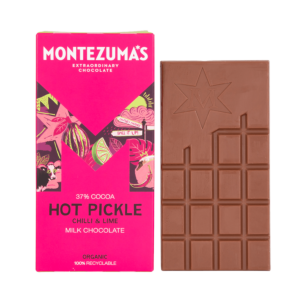 milk chocolate chilli & lime in pink carton
