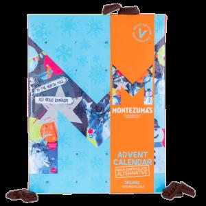 blue advent calendar with orange sleeve, with milk chocolate alternative