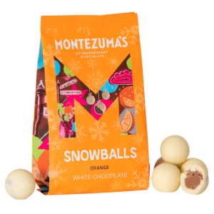 orange bag with white chocolate snowballs