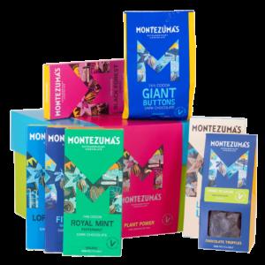 Plant power vegan chocolate gift box - green box with blue lid