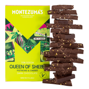 Queen of Sheba  - Dark Chocolate Pistachio & Cherry 300g Bar