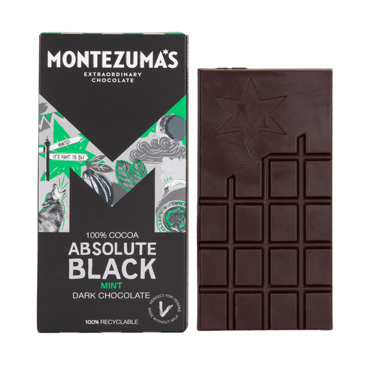 100% Cocoa Absolute Black with mint