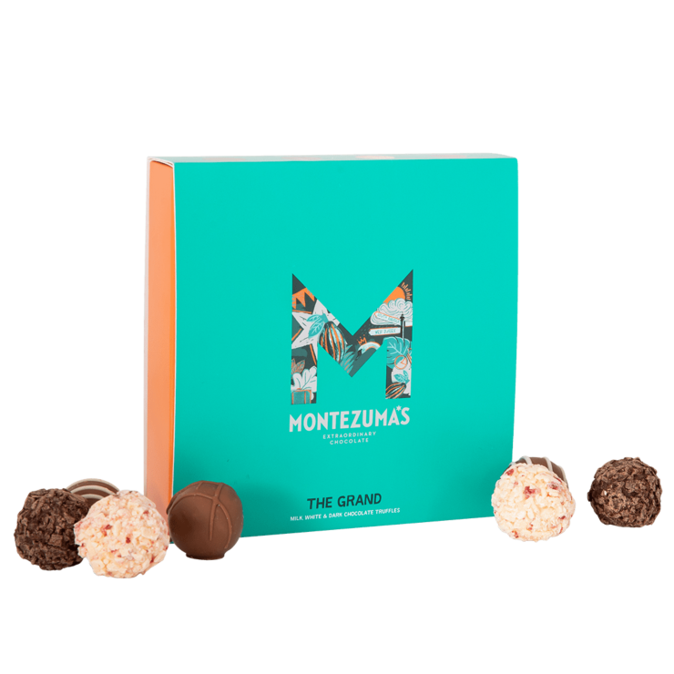 Grand Collection - mixed chocolate truffles in green box