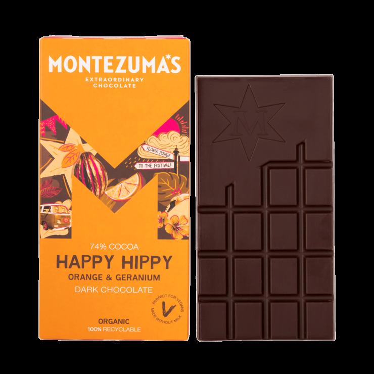 Happy Hippy - Dark Chocolate with Orange and Geranium