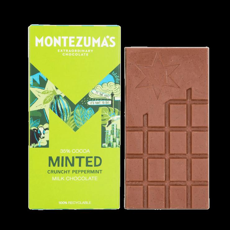 Minted milk chocolate in green carton