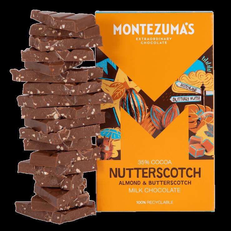Nutterscotch - Milk Chocolate Almond & Butterscotch 300g Bar