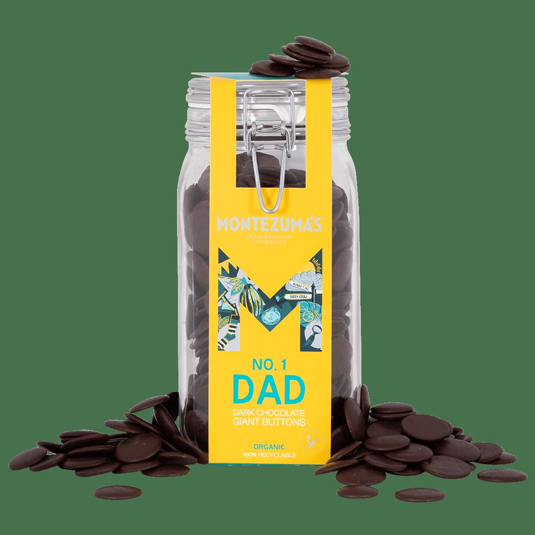 Dark Chocolate Button Jar | Father's Day Gifts