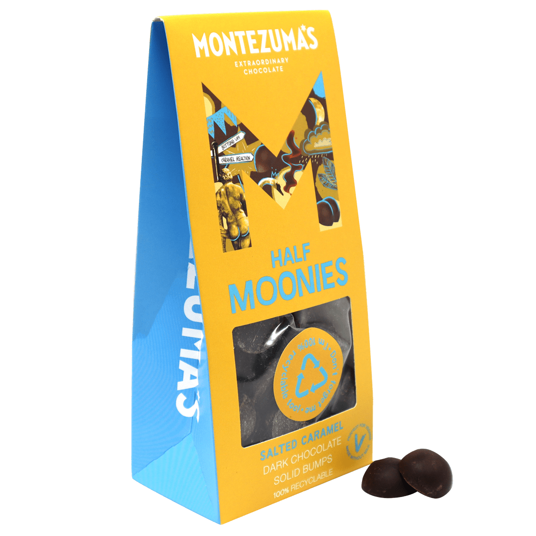 Dark Chocolate with Salted Caramel Half Moonies