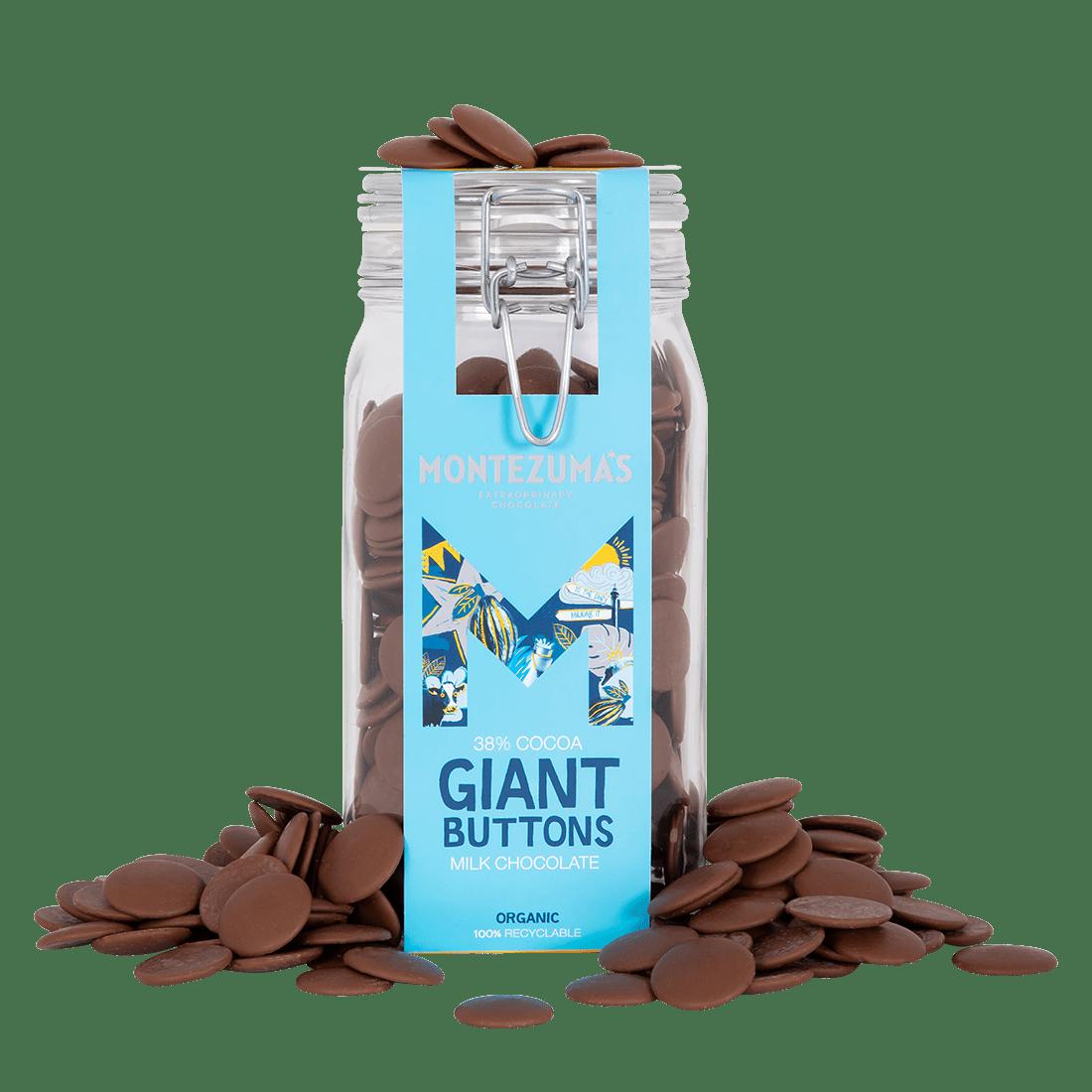 Organic Milk Chocolate Giant 900g Button Jar