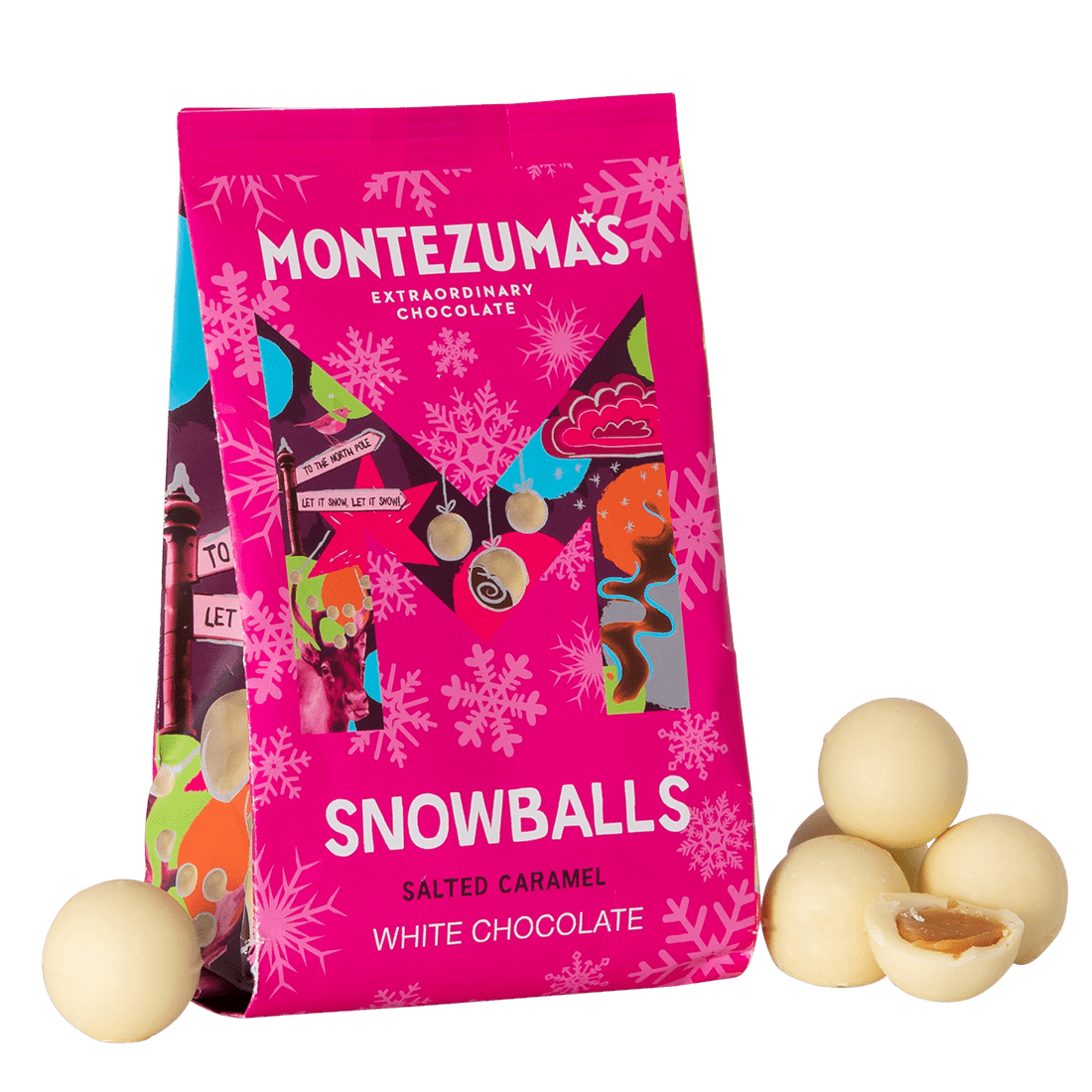 White Chocolate Salted Caramel Snowballs