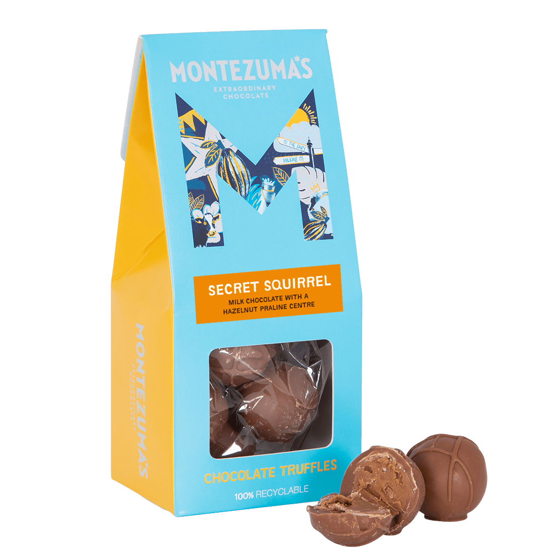 Secret Squirrel - Milk Chocolate Truffles with Hazelnut Praline